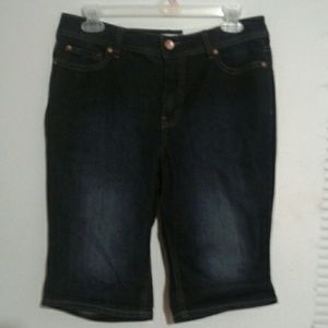 NWT Cato Est.1946 Denim Blue Jean stretch Shorts 6